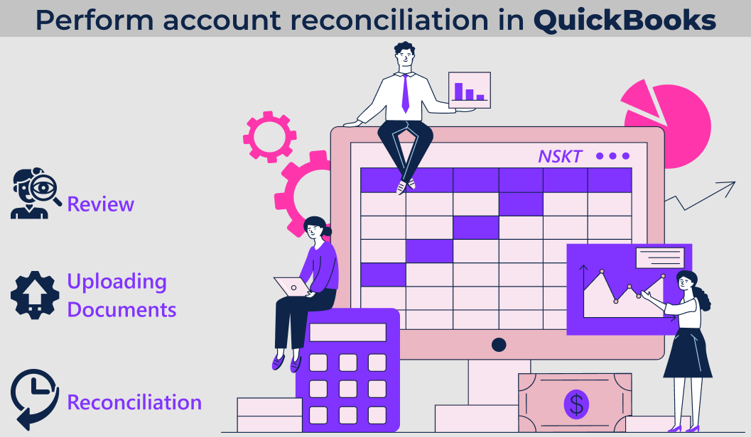 How to perform accounts reconciliation in QuickBooks?